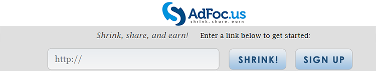 AdFoc.us-logo-wide - Earn money online with URL Shorteners.
