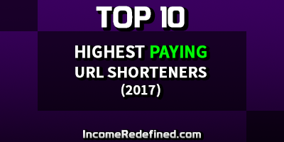 Top-10-Paying-URL-Shorteners - Make money online sharing short links.