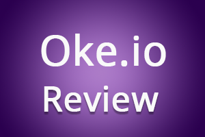 Oke.io logo - Earn money by shrinking and sharing links.
