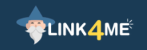 Link4.me logo - Earn money by shrinking and sharing links.